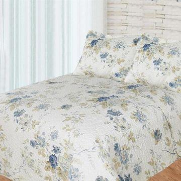Patch Magic Super King Blue Roses Bed in a Bag Set - Multi