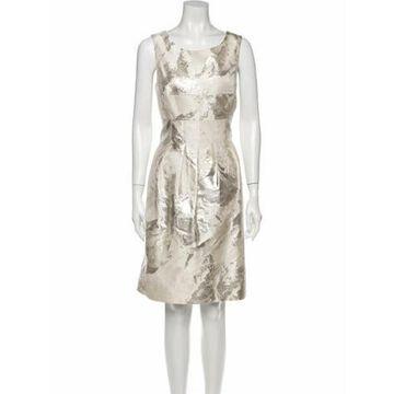 Printed Knee-Length Dress Rose