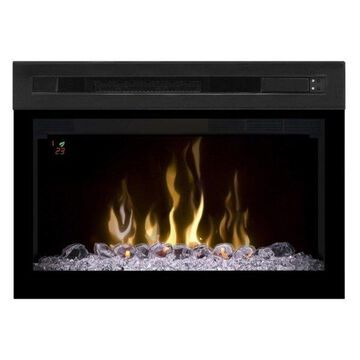 Dimplex Multi-Fire XD Firebox with Curved Glass and Glass Ember Bed