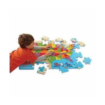 Educational Insights Usa Foam Map Floor Puzzle- 54 Pieces