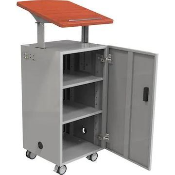Balt Trend Podium Desk Angled Lectern Top, Cherry, 43- 49H x 19 3/4W x 24 1/2D | Quill