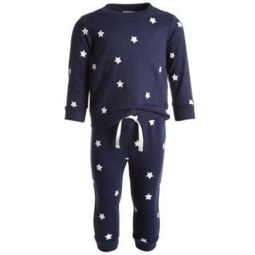 First Impressions Baby Boys 2-Pc. Star Power Sweatshirt & Jogger Pants Set, Created for Macy's