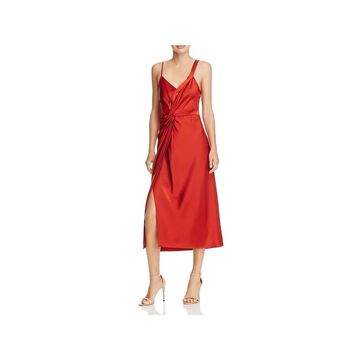 T by Alexander Wang Womens Party Dress Drapey Knot-Front
