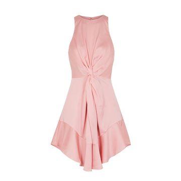 These Days pink satin mini dress