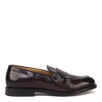Fabi Double Monk In Leather With Double Buckle
