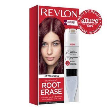 Revlon Root Erase Permanent Hair Color, Touchup Hair Dye, 100% Gray Coverage, 4B Burgundy