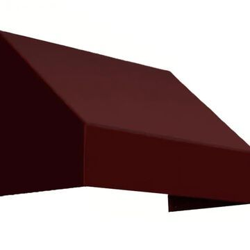 Awntech New Yorker 52.5-in Wide x 36-in Projection Burgundy Solid Fixed Window/Door Awning in Red | CN33-L-4B