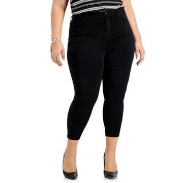 Celebrity Pink Trendy Plus Size Black Skinny Ankle Jeans