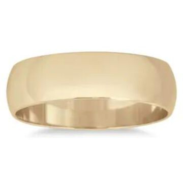 Marquee Jewels 14k Yellow Gold 5-millimeter Domed Wedding Band