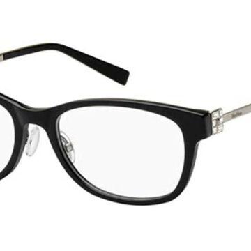 Max Mara MAX MARA MM 1326/F Asian Fit 807 Womenas Glasses Black Size 52 - Free Lenses - HSA/FSA Insurance - Blue Light Block Available