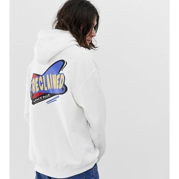 Reclaimed Vintage oversized hoodie with logo