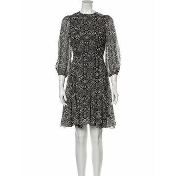 Silk Mini Dress Black