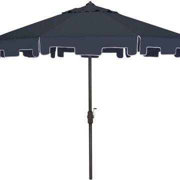 Safavieh Market Patio Umbrella Canopy Fabric Polyester Aluminum Tilt Navy Blue