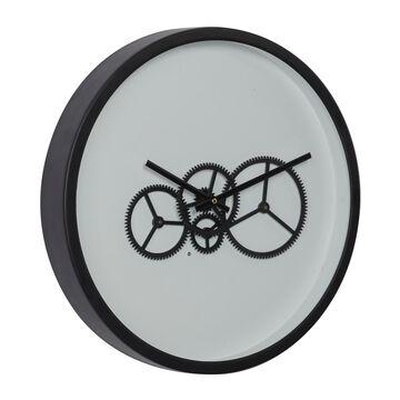 """DecMode 18"""" x 18"""" Black Analog Round Wall Clock, 67531"""