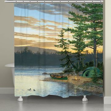 Laural Home Lake Sunset Shower Curtain