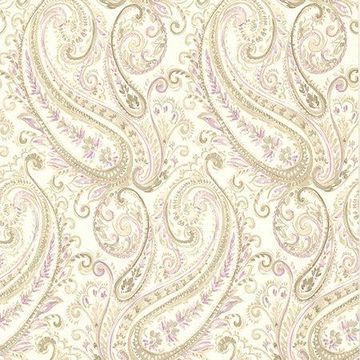 Brewster Paisley Purple Penelope Wallpaper