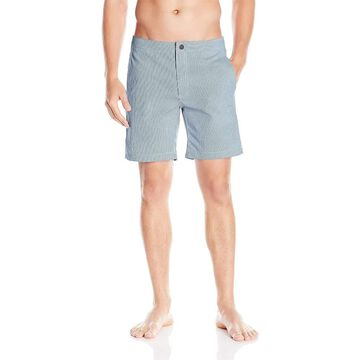 Onia Mens Shorts Blue Size 32 Drawstring Gingham Check Board Surf