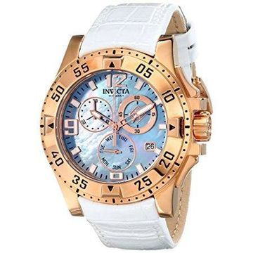 Invicta Excursion 16100 Leather Chronograph Watch