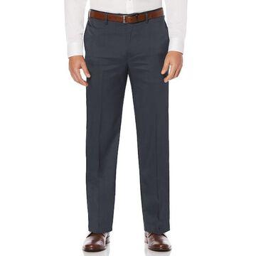 Men's Savane Straight-Fit Crosshatch Stretch Flat-Front Dress Pants