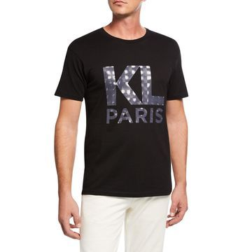 Men's Cotton T-Shirt with Printed Logo