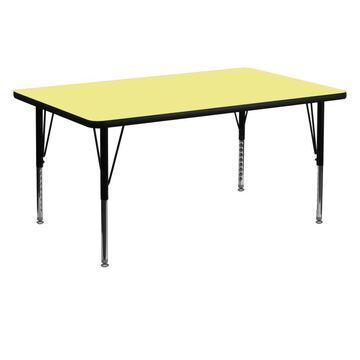 Flash Furniture Yellow Rectangular Kid's Play Table
