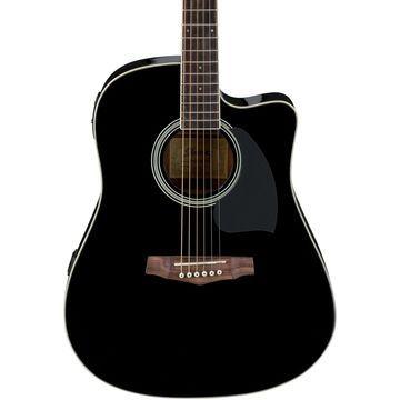 PF15ECE Dreadnought Acoustic-Electric Guitar Gloss Black