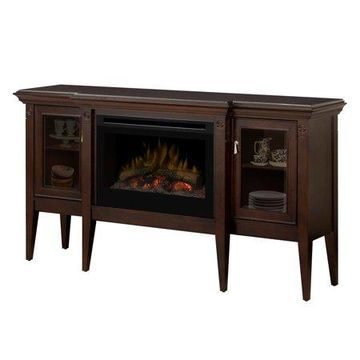 Dimplex Upton Mantel Electric Log Fireplace Cabinet, Espresso