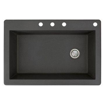 Transolid, Kitchen Sink, Black, 22