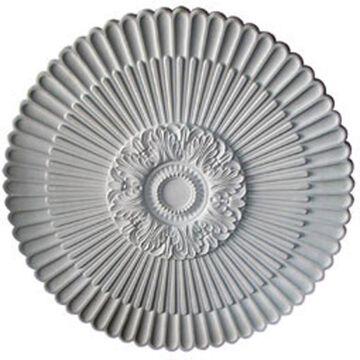 Ekena Millwork Nexus 41-in x 41-in Primed Polyurethane Ceiling Medallion in White