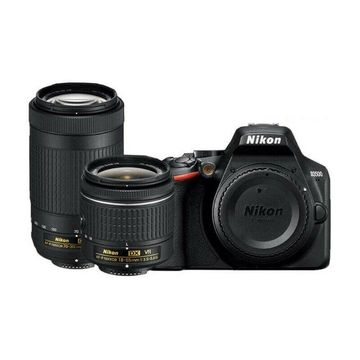 Nikon D3500 DX-Format DSLR Camera with AF-P 18-55mm VR and 70-300mm Lenses