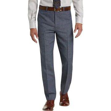 Joseph Abboud Men's Blue Linen & Wool Modern Fit Dress Pant - Size: 42W