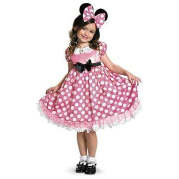 Child Minnie Mouse Glow in the Dark Costume Disguise 42986 42986