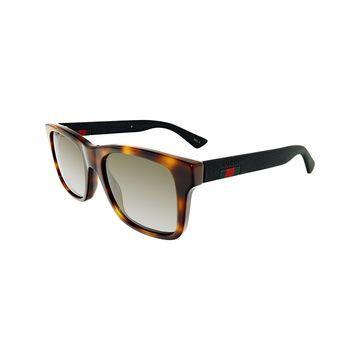 Gucci Havana Square Plastic Sunglasses