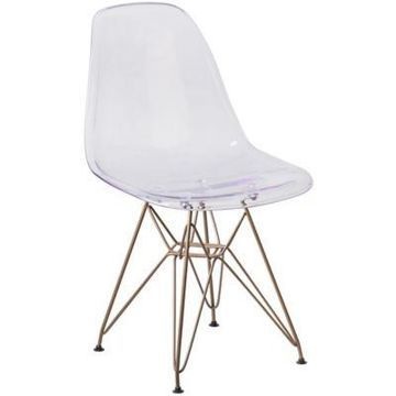 Flash Furniture Accent Chair in Clear