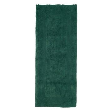 100% Cotton Reversible Long Bath Rug by Lavish Home, Green