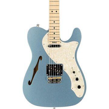 Fender American Elite Telecaster Thinline Maple Fingerboard Electric Guitar Mystic Blue