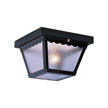Volume Lighting V7231 1 Light Flush Mount Outdoor Ceiling Fixture