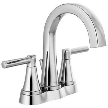 Delta Becker Chrome 2-Handle 4-in Centerset WaterSense Bathroom Sink Faucet with Drain | 25891LF