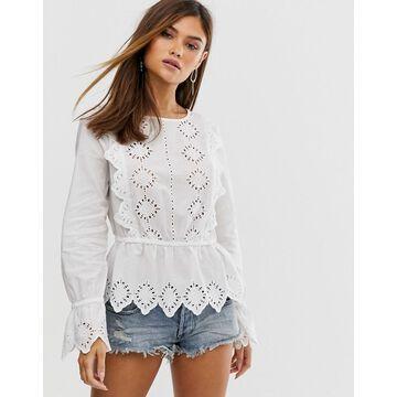 Vero Moda embroidered cotton top