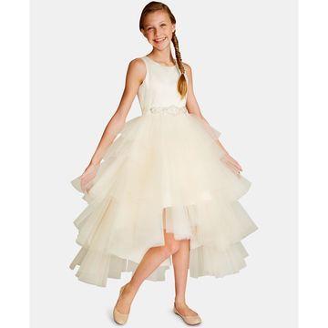 Big Girls Satin Tulle Fairy Dress