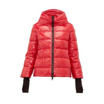 Herno - Funnel Neck Quilted Shell Jacket - Womens - Red
