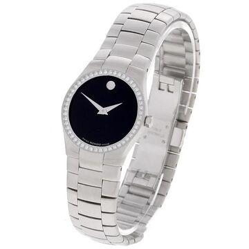Movado Strato Women's Black Dial Steel Watch