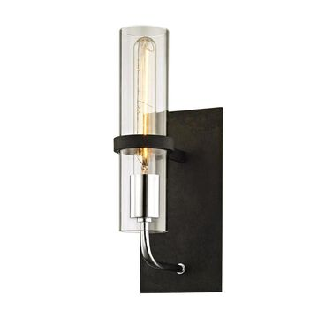 Troy Lighting Xavier 5.25-in W 1-Light Vintage Iron Modern/Contemporary Wall Sconce | B6191