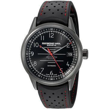 Raymond Weil Men's 2754-BKR-05200 'Freelancer' Automatic Black Rubber Watch