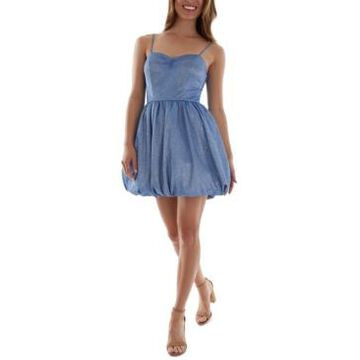 Bcx Juniors' Bubble-Hem Fit & Flare Dress