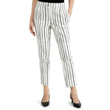 Alfani Striped Pull-On Pants, Created for Macy's