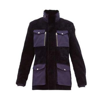 Schott - Flap-pocket Shearling Field Jacket - Mens - Navy