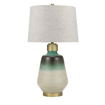 Catalina Lighting Coastal Ombre Blue Green Table Lamp