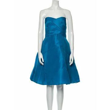Silk Mini Dress w/ Tags Blue