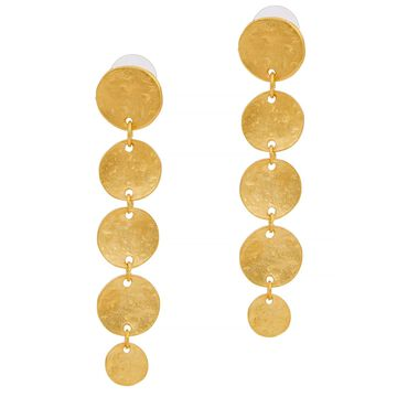 Gold-tone coin drop earrings